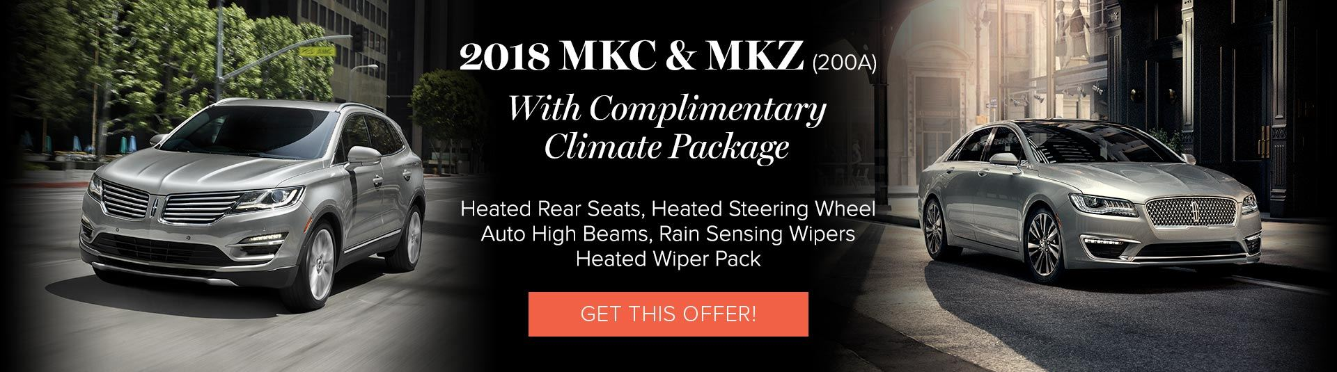 Lincoln MKC and MKZ Offers