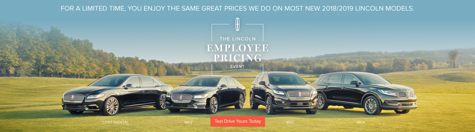 Lincoln Employee Pricing Event