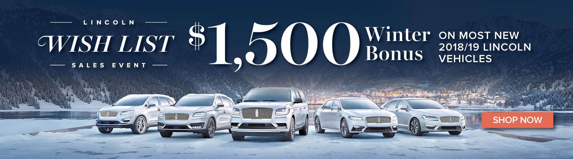 Lincoln Wishlist Sales Event